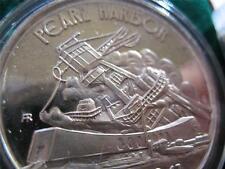 1+.OZ.999 RARE SILVER COIN WWII DEC 7 1941 PEARL HARBOR + GOLD USS ARIZONA