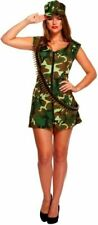SEXY ARMY GIRL Hen Party adult Fancy  Dress Costume  Ladies Outfit Halloween UK