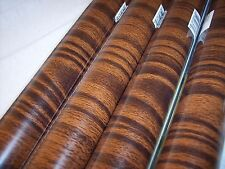 Contact Paper Dark Brown WarmWood Grain Tiger Stripes Shelf Liner 9ft. One Roll
