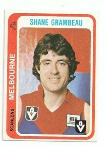 1979 Scanlen football card Shane Grambeau Melbourne card no 85 Excellent