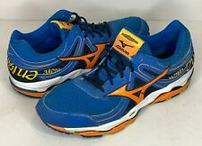 Mizuno Wave Enigma 3 Mens Size 13 Blue Orange Yellow Mesh Road Running Shoes