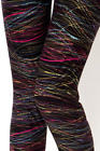 ONE SIZE Womens Black Color Striped Print Christmas Leggings Soft OS size 2-12