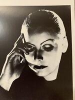 Haunting Actress Greta Garbo Vintage Photo Postcard Black White Collectible