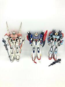 🌟 (3) Bandai 1/100  Zeta 1.0, Metallic Coating, &  Plus Gundam Model Kit LOT