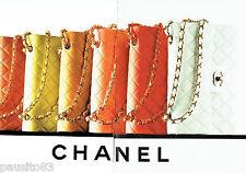PUBLICITE ADVERTISING 056  1997  les sacs à main Chanel ( 2p)