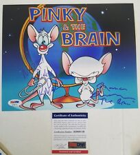 Rob Paulsen Maurice Lamarche Pinky And The Brain Hand Signed 8x10 Photo PSA Cert