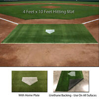 4' x 10' SyntheticTurf Baseball Softball Batting Cage Practice Hitting Rug Mat
