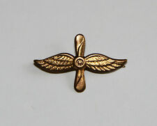 RUSSIAN AIRFORCE - PIN BADGE - TABS - MILITARY - PILOT WINGS - FLYING- PROPELLER