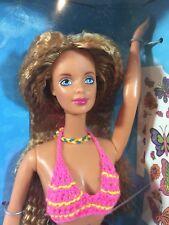 Vintage 1998 Mattel Butterfly Art Barbie Doll 20359 w/ Temporary Tattoos SEALED