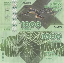 Elobey Chico 1000 ekuele 2016 UNC Spider Private Issue