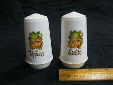 Vintage Retro Plastic Column Vegetables Salt and Pepper Shakers         31