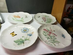 """VINTAGE LENOX BUTTERFLY MEADOW SET OF 9"""" PLATES"""