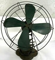 Antique Emerson Electric 78748 Green Blade Adjustable Oscillating Fan