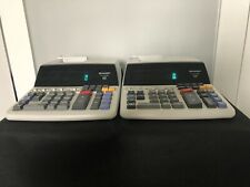 (2) Sharp Electronic Printing Calculators / El-1197P Iii