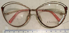 Christian Dior 2535 Sight Glasses New Metal Color Gold-Rose Vintage Years 90