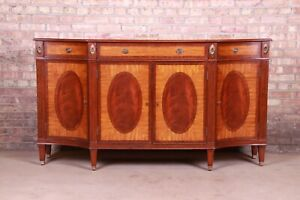 Ethan Allen Regency Flame Mahogany and Satinwood Sideboard Credenza