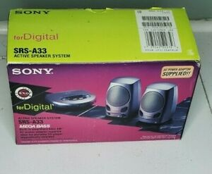 Sony SRS-A33 Portable Mega Bass Active Speaker System for Digital Devices New