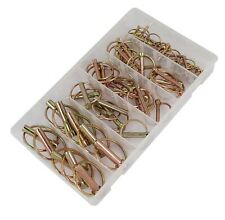 50pc Spring Loaded Lynch Pin Assortment - Sizes: 4.5mm, 6mm, 9mm & 10mm