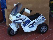 Peg Perego Raider Police / Polizei moto a batteria 3 ruote Elettrica IGED0910