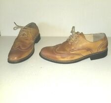 Nice Faded Brown PERRY ELLIS Porfolio Harris Size 9.5 Oxford Shoes