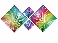 RAINBOW COLOURS ABSTRACT CANVAS DIAMOND 4 PIECE WALL ART MULTI PICTURE 148cm