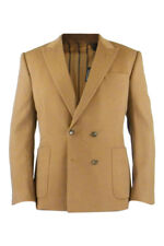 *RAKE* MEN'S DESIGNER DOUBLE BREASTED WOOL BLAZER CAMEL (38)