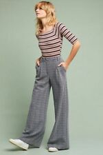 Anthropologie CARTONNIER 10 Pants Wide-Leg JACQUARD Trousers Texture Stretch NWT