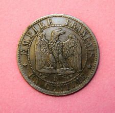 France 1 Centime 1855-D (a) Extremely Fine + Copper Coin *** Key Date