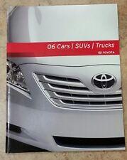 New listing 2006 Toyota Full Vehicle Lineup Dealer Brochure Cars Suv's Trucks