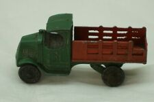 Vintage Tootsietoy Tootsie Toy Mack Truck C Cab Stake Body Red Green 3.25in Asis