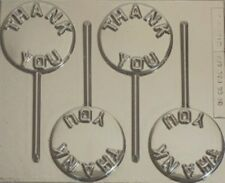 THANK YOU CHOCOLATE LOLLIPOP MOULD 4 CAVITY