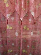 Multi-Colors Floral Design Shower Curtain w/ Vinyl liner & plastic hooks