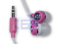 High Quality Pink & White Earbuds Earphones MP3/MP4