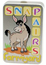 Farmyard Snap Pairs Childrens Animal Card Game Tin