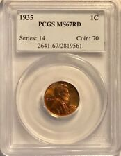 USA - Lincoln Cent - 1935 - PCGS MS-67 Red - Old Holder - NICE!