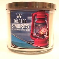 NEW 1 BATH & BODY WORKS TOASTED S'MORES SCENTED 3-WICK 14.5 LARGE FILLED CANDLE