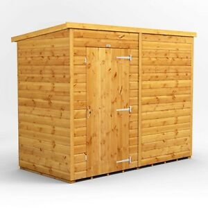 8x4 Power Pent Windowless Garden Shed | T&G | B GRADE SHED - AVAILABLE NOW