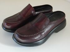 DANSKO Slip On Wedge Shoe Loafers chile brown Leather Clogs Womens Sz 42 11.5/12