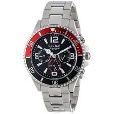 Sector Men's 43mm Chronograph Silver Steel Bracelet & Case Watch R3253161001