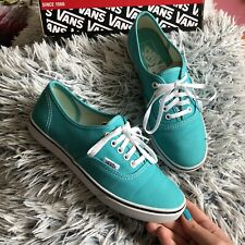 Vans Authentic Womens Girls Mint/green Colour Trainers Size Uk 4 Worn Once