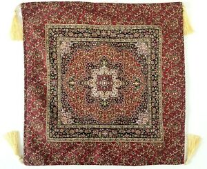 """Turkish Moroccan Navy Red Gold Kilim Pillow Cushion Cover Case 17x17"""" NEW"""