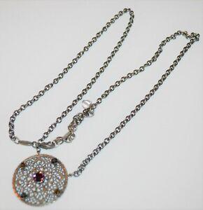 "Sabika Choker Necklace 34-36""  Retired W13 Round Crystal Pendant"