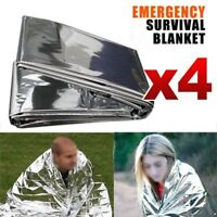 4x Space Blanket Thermal Thermo Foil Emergency Survival Camping Rescue First Aid