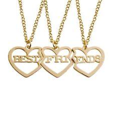 Fashion Bohemian Best Friends BFF Pendant Necklaces 3 Pieces Gold Coloured