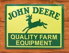 Tin Sign John Deere Equipment Tractor Farm Barn Rustic Decor