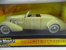 """1:18 Ertl 1937 CAVO 812 convertibile """" AMERICAN MUSCLE CLASSICI """" Giallo - RARO!"""