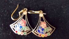 Vintage Cloissone Pierced Earrings-Very Good Condition