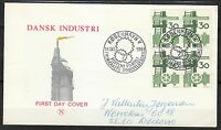 Denmark 1968 FDC cover Shipbuilding Industry .Domestic shipped Mi 470 Sc 449