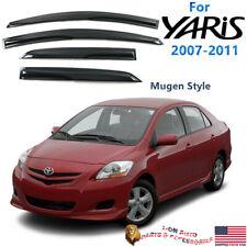 Fits 07-11 Toyota Yaris Sedan Mugen Style Acrylic Window Visors 4Pc Set