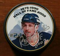 St. Louis Blues Signed Autographed Bernie Federko Hockey Hall of Fame Puck Auto